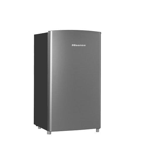 Hisense RR63D6ASE Refrigerator with Single Door and Freezer, 6.3 cu. ft., Stainless Silver