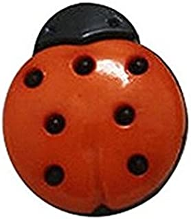 6 BOUTONS BOIS couture scrapbooking COCCINELLE