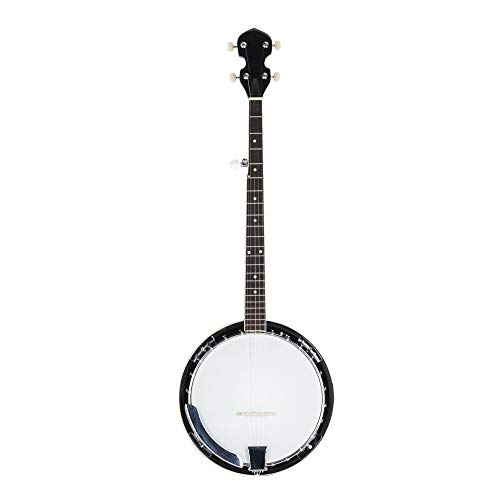 Shamdon Home Collection Ship from US! Top Grade Exquisite Professional Wood Metal 5-string Banjo Beginner Kit White & Wood Color
