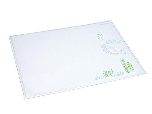 Läufer 43614 Durella Emotion Schreibtischunterlage Motiv Delfin, 40x53 cm, glasklar transparente Schreibunterlage mit Motiv