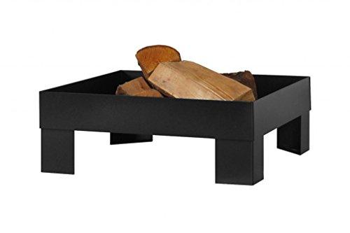 FARMCOOK Feuerschale PAN-6 schwarz lackiert in drei Größen (80x80x22 cm)