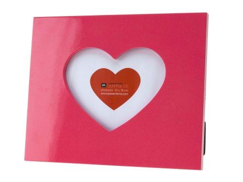 PT HOME HM0419 Bilderrahmen Heart Icon Holz pink