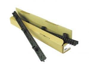 Cremallera para puerta corredera Nylon - Paquete de 1 mt 2 piezas CRP1 Hiltron - Made in Italy