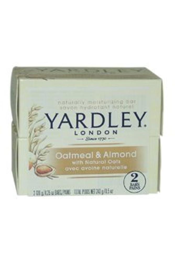 克服する自動車イサカOatmeal and Almond Bar Soap by Yardley - 2 x 4.25 oz Soap by Yardley [並行輸入品]