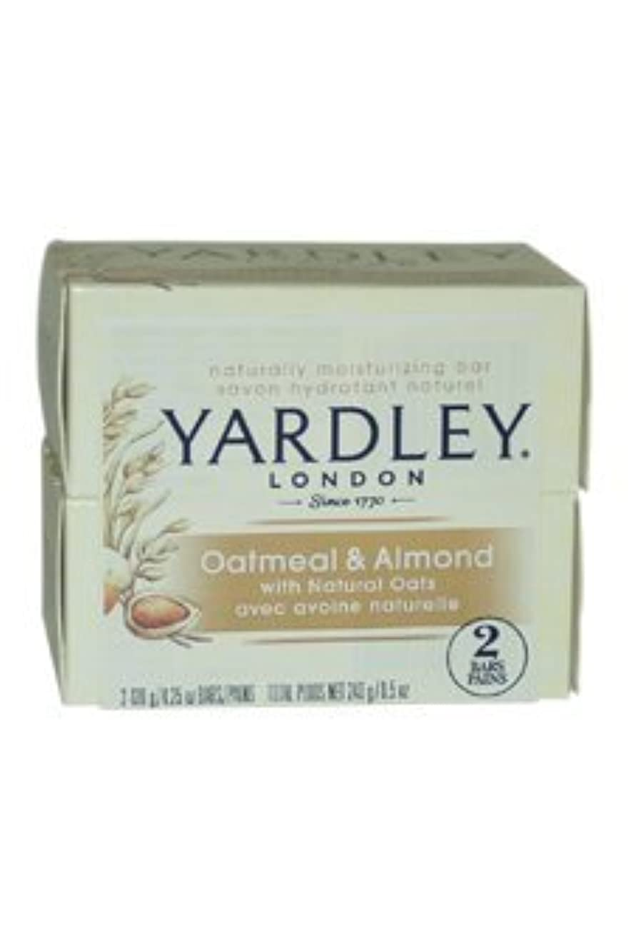 過言満足できるフラフープOatmeal and Almond Bar Soap by Yardley - 2 x 4.25 oz Soap by Yardley [並行輸入品]