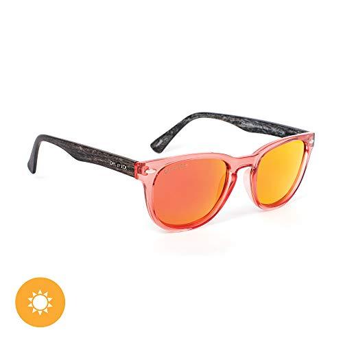 DelSol - Solize Halfway to Paradise - Clear-Orange - Lentes profesionales polarizados de espejo naranja - Protectores UV - Cambios de transparente a naranja con exposición al sol - 1 pieza