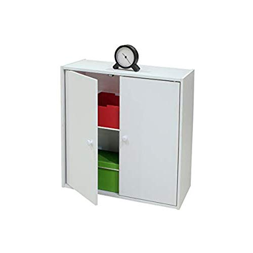 K & B Furniture BK1564 White Wood 2 Door Bookcase
