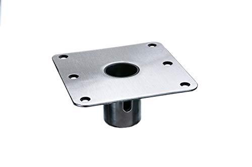 Swivl-Eze 69773 Swivl-Eze 1.77 Series Stainless Steel Snap-Lock Seat Base Plate, 7-Inch x 7-Inch, Square