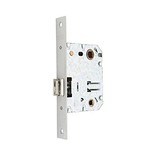 Tesa Assa Abloy 134U50HN Picaporte Unificado Para Puertas de Madera Niquelado Entrada 50 mm, Frente Cuadrado 134U