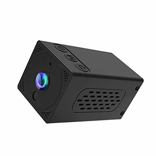 SXTYRL Telecamera Spia, Infrarossi, Spy Fotocamera, Visualizzazione Grandangolare, Nascosta Videocamera, per Camera Ufficio, Batteria (Color : Black)