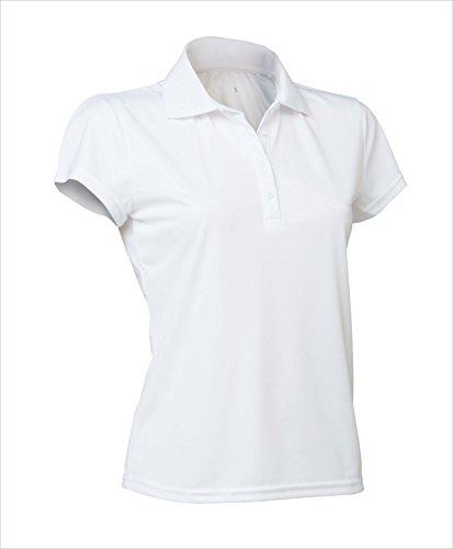 Asioka 102/14Polo-Shirt mit kurzen Ärmeln, Damen L weiß