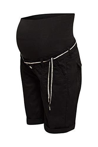 ESPRIT Maternity Damen Shorts OTB Umstandsshorts, Schwarz (Black 001), (Herstellergröße: 38)