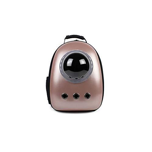 Alapet Mehrfarbiger optionaler Space Pet Cabin-Rucksack, PC-Oxford-Material, tragbarer Out-of-The-Shoulder-Rucksack, Zubehör für Upgrade-Seitenfenster, bequem und atmungsaktiv (Color : Rose Gold)