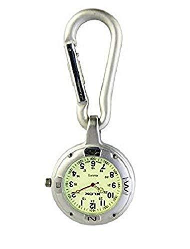 Silber Anschnallen Karabinerverschluss Taschenuhr Für Ärzte Krankenschwestern Sanitäter Köche Sport
