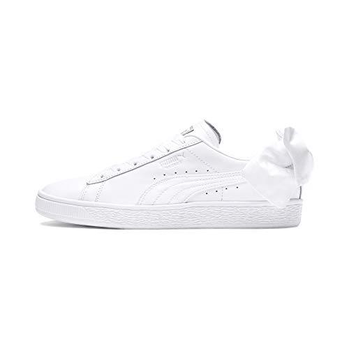 Puma Basket Bow Wn's, Zapatillas para Mujer, Blanco White White, 38 EU