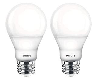 Philips 455931 LED Dimmable A19 Soft White Light Bulb with Warm Glow Effect 800-Lumen, 2700-2200-Kelvin, 6.5-Watt (60-Watt Equivalent), E26 Base, Frosted, 2-Pack (B00TZ904Q2) | Amazon price tracker / tracking, Amazon price history charts, Amazon price watches, Amazon price drop alerts
