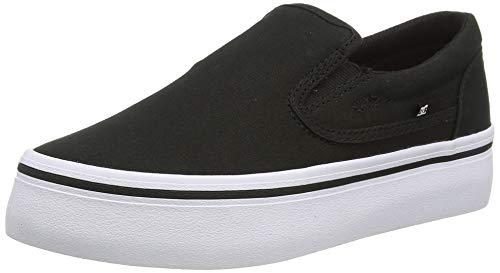 DC Shoes Trase Slip-on Platform, Plataforma Mujer, Black/White, 38.5 EU