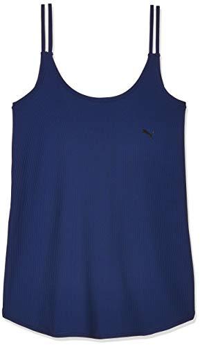 PUMA Studio Rib Tank Camiseta, Mujer, Elektro Blue, XL