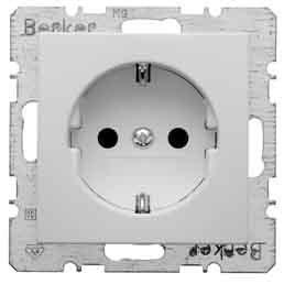 Berker Schuko-Steckdose pws 47431909 mit Steckklemmen B.1;B.3;B.7;S.1 Steckdose 4011334224310 by Berker