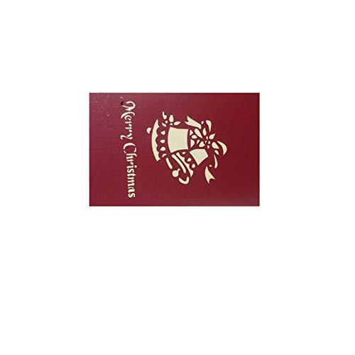 HZWLF Weihnachtsdekoration Geschenk Grußkarte Hochzeit Dreidimensionaler Text Benutzerdefinierte Weihnachtswünsche Karte Postkarte Weihnachtsbaum Papierschnitt * Rot