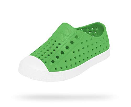 Native Shoes Baby Jefferson Child-K Sneaker, grasshopper green/shell white, 4 Medium US Toddler
