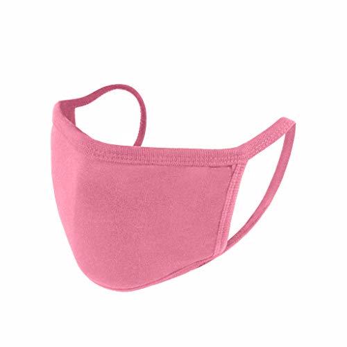 Ewendy 10 Stück Damen Waschbar Pure Farbe Mundschutz - Bequem & Premium-Material Face_Coveeriing für Damen Herren - Tolles Geschenk