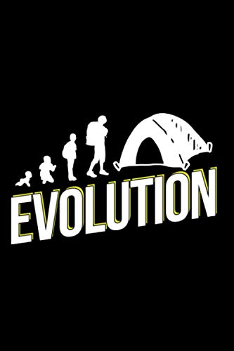 Evolution of Camping: Camping Lined Notebook incl. Table of Contents on 120 Pages | Camping Camping Journal | Gift Idea for Motor home, vacation, camper van and motor home