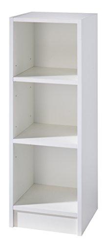 roba Seitenregal Dreamworld 3 mit höhenverstellbaren Einlegeböden, weißes Standregal passend unter Wickelkommode der Serie, Wickelkommodenregal in weiß zur Erweiterung von Babyzimmer und Kinderzimmer
