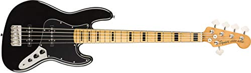 Squier by Fender Classic Vibe 70's Jazz Bass V - Arce, color negro