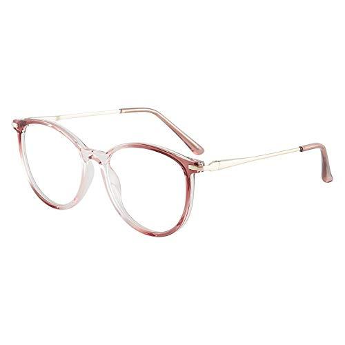 HUITAILANG Gafas Bloqueo Luz Azul,Paquete De 2 Anteojos Ópticos con Pantalla De Computadora para Hombres Y Mujeres,Montura De Gran Tamaño,Reduce La Fatiga Ocular Sin Receta,Rojo Claro