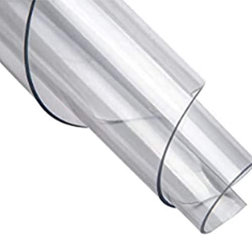 WLF-didian PVC-Kunststoff-Wohnzimmertürmatte, transparente Bodenschutzmatte, wasserdicht, rutschfest, Kratzfest, verschleißfest, 6 Größen, 3 Stärken,2.1mm,60 * 90cm