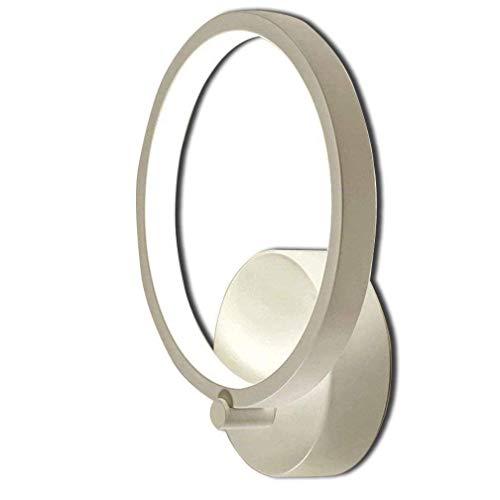 TTXP Lámpara de Pared, LED Regulable Aplique de pared Lámpara para niños Diseño moderno en forma de anillo Aplique de pared Lámpara de cabecera Luz de metal creativa Punto de pared
