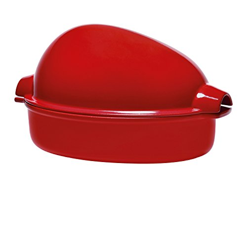 Emile Henry Eh349544 Brique à Rôtir XL Céramique Rouge Grand Cru 41,5 x 27,5 x 21 cm
