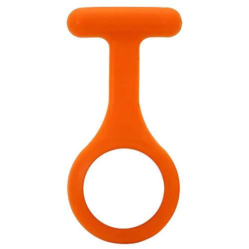 tumundo Einzelne Silikonhülle Für Schwestern-Uhr Puls Anstecknadel Kittel Brosche Silikon-Hülle Damen-Schmuck Pfleger-Uhr, Farbe:orange