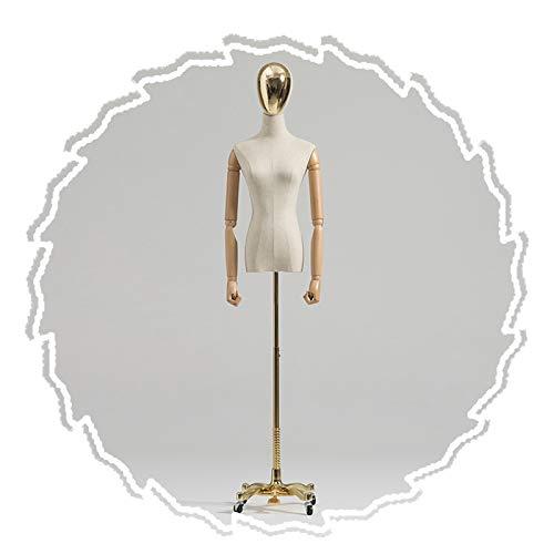 RZEMIN ZEMIN Maniquí de Costura, Forma de Vestido Femenino con Base de Metal Móvil, Soporte Decorativo para Boda de Medio Cuerpo, Altura Ajustable, 2 Tamaños (Color : B, Size : Small)