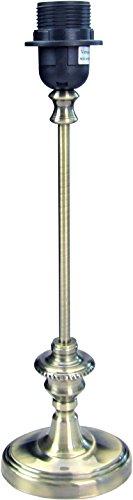 Klassischer Tischlampenfuß aus Metall,* oval *, seidengl. bronziert H=42cm, Auflagehöhe des Schirmes 40cm, Energieklasse A++ bis E