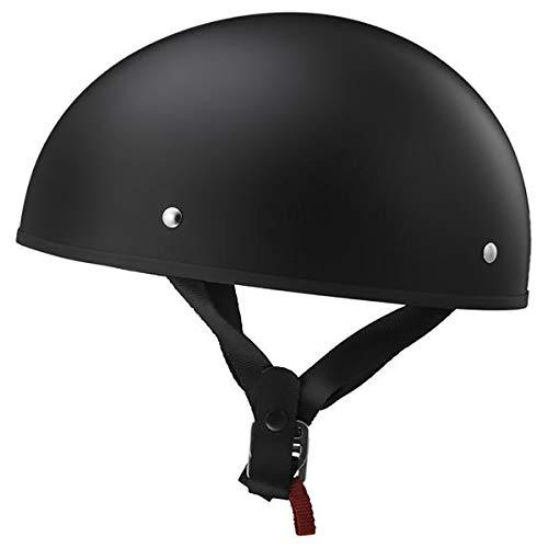 LS2 Helmets Stripper Motorcycle Half Helmet (Matte Black - Small)