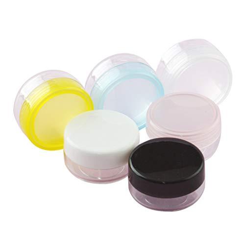 UPKOCH 50 Stück Plastik Vorratsbehälter Behälter mit Deckel Kleine Winzige Flasche für Make-Up...
