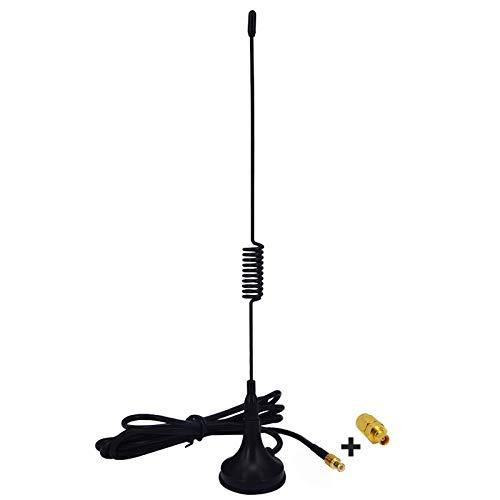 YILIANDUO DAB Car Radios Antenne Adapter MCX 2.5dbi ADS-B Antenne mit Magnetfuß Verlängerungskabel RG174 1M + SMA Stecker auf MCX Buchse Adapter für Autoradio Dab Pioneer Clarion Kenwood Alpine