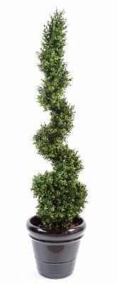 Buis Artificiel New Spirale Fine - intérieur extérieur - 130 cm vert - taille : 130 cm