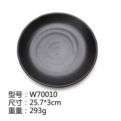 Plaque en plastique Noir Sushi Buffet Grill Carré givré Art Vaisselle, J
