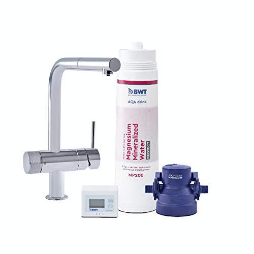 BWT Wasserfilter-Wasserhahn für Küche | AQA drink Pure LOFT | mit herausziehbare Spühlbrause | inkl. Filterkartusche mit 600l Kapazität | Küchenarmatur von GROHE