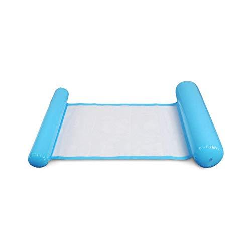 BANGSUN Hamaca hinchable para piscina, tumbona multiusos y silla azul