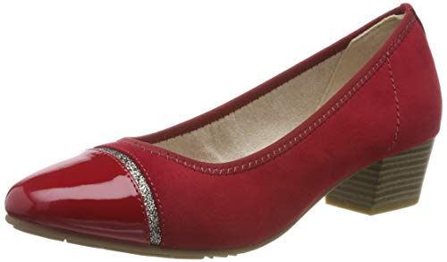 Jana 100% comfort Damen 8-8-22300-23 Pumps, Rot (Chili 533), 40 EU