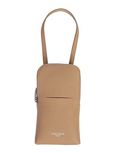 DOLCE E GABBANA Luxury Fashion Herren BP2575AX22680009 Beige Leder Kuriertasche | Frühling Sommer 20