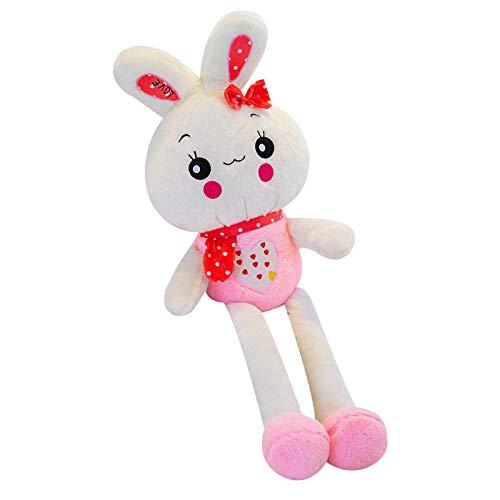 Pluche Super Schattige Kleine Witte Konijn Prinses Zachte Lappenpop Love Love Konijn Prinses Konijn Knuffel-Roze _90cm