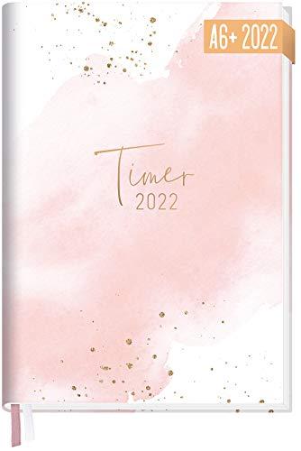 Chäff-Timer Mini Kalender 2022 A6+ [Blush] mit 1 Woche auf 2 Seiten | Terminplaner, Wochenkalender, Organizer, Terminkalender mit Wochenplaner | nachhaltig & klimaneutral