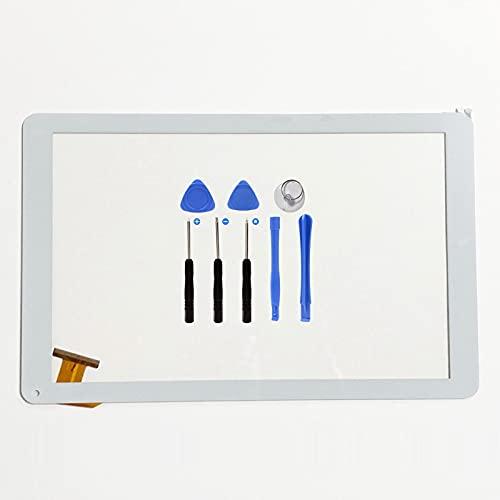 EUTOPING Blanco Pantalla táctil digitalizador Sensor de Cristal recambios de Repuesto capacitivos para 10.1 Pulgada SPC Heaven 10.1 9762264B con Herramienta