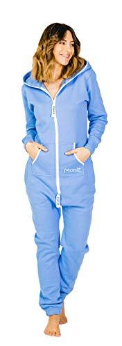 Moniz Damen Jumpsuit, graublau, Größe M