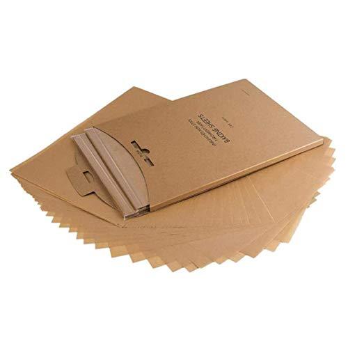 JIAHU Lot de 120 feuilles de papier sulfurisé non blanchi pour plaque de cuisson